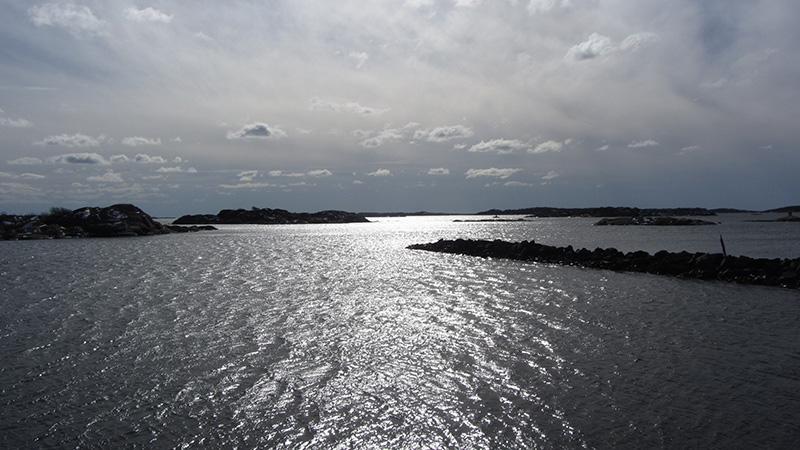 Desembocadura del río gotia a las afueras de Gotemburgo.