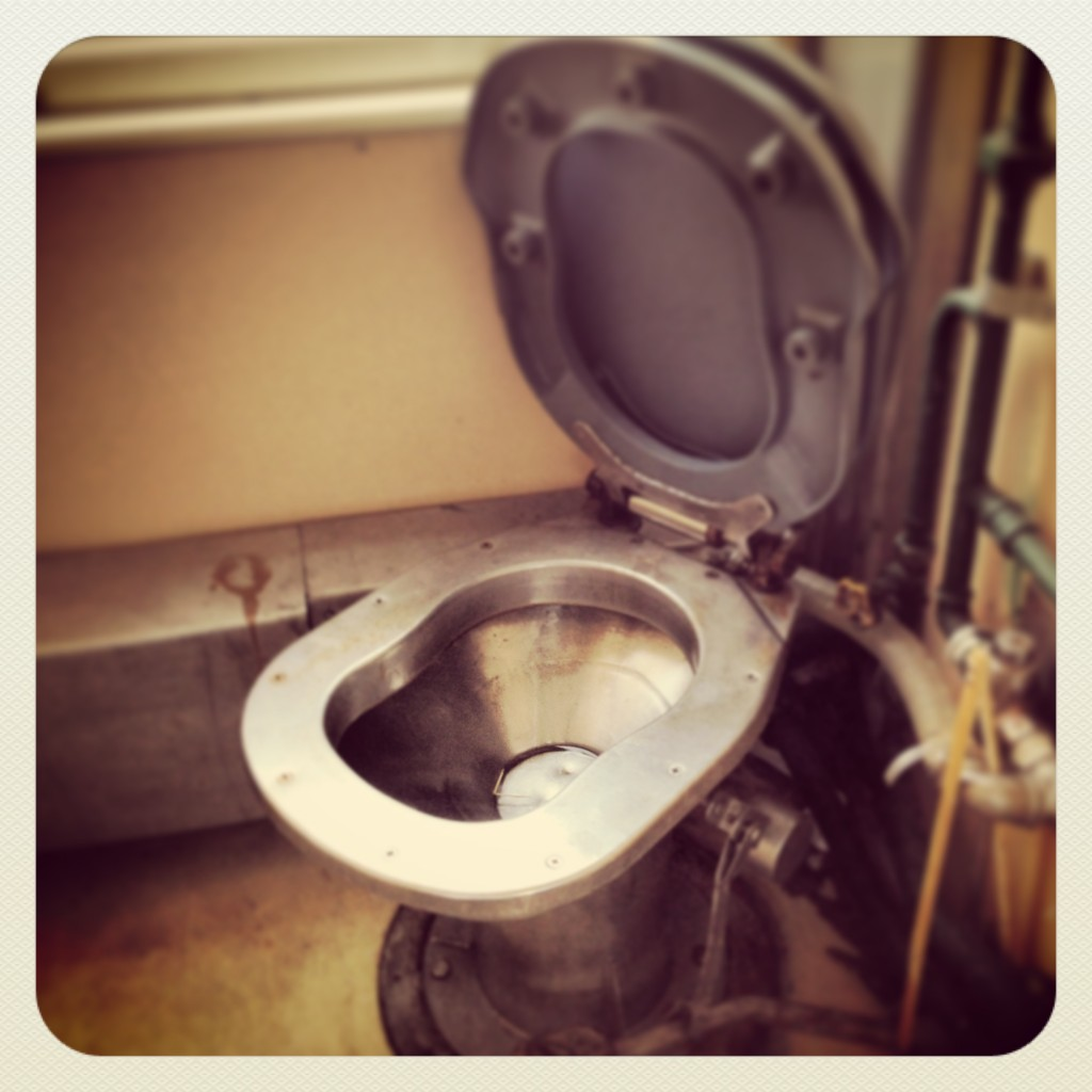 Aunque parezca un sillón de tortura, este es uno de los wc del transiberiano.