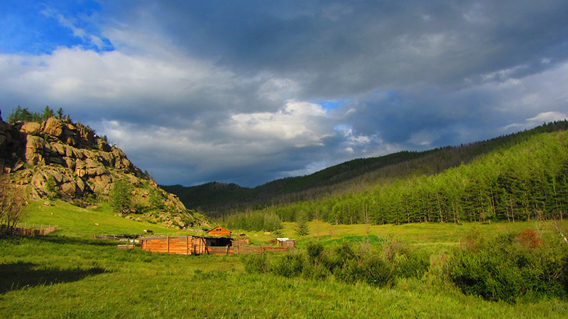 Parque nacional de Gorkhi Terelj en Mongolia.
