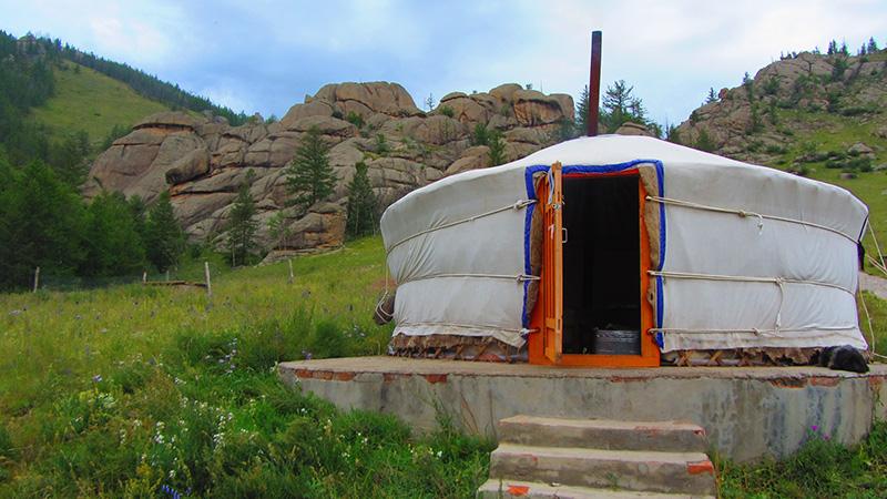 La Yurta o 'Ger' es el alojamiento tradicional en Mongolia.