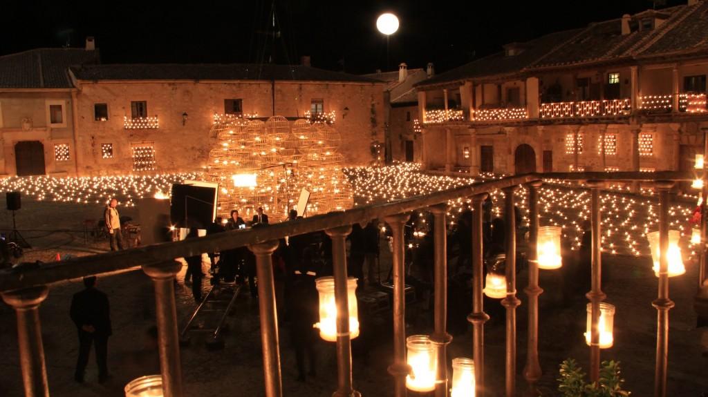 El polémico anuncio de la Lotería de Navidad se rodó en la Plaza Mayor de Pedraza.