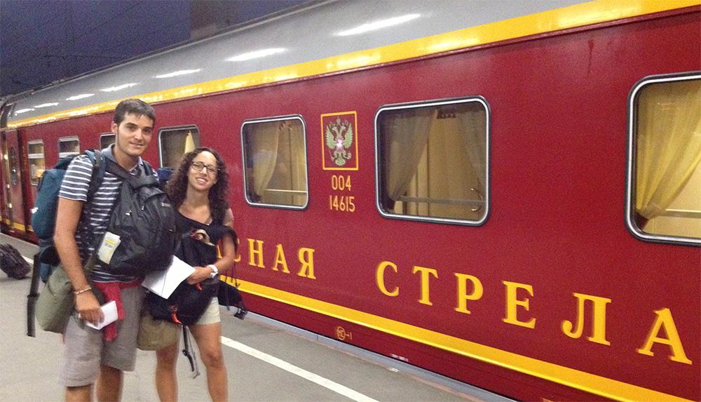 El tren Flecha Roja, 'Krasnaia Strela', de San Petersburgo a Moscú.