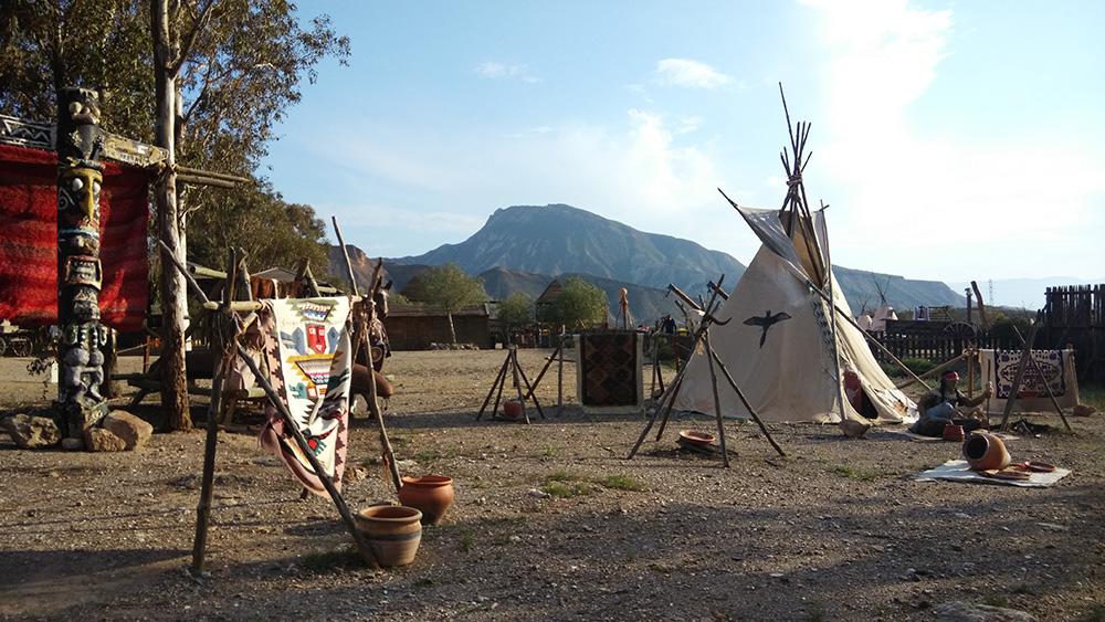 El poblado del oeste Oasys mini Hollywood del desierto de Tabernas en Almeria.