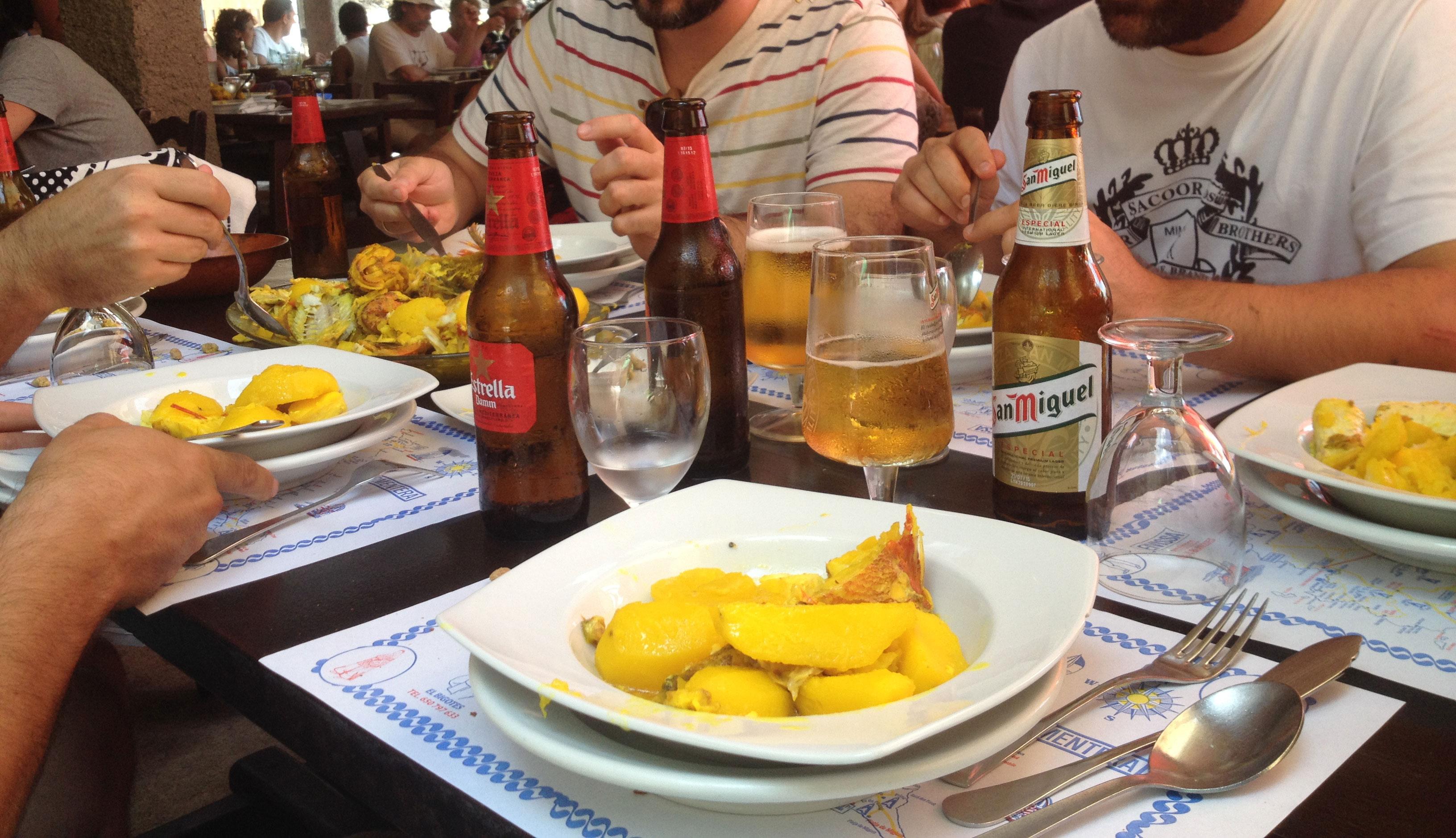El bullit de peix del Restaurante Can Bigots de Ibiza, en Cala MAstella.