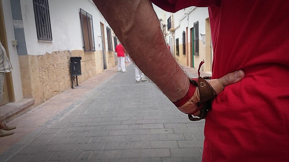 Partida de Pilota valenciana en las Fiestas de agosto de La Nucía