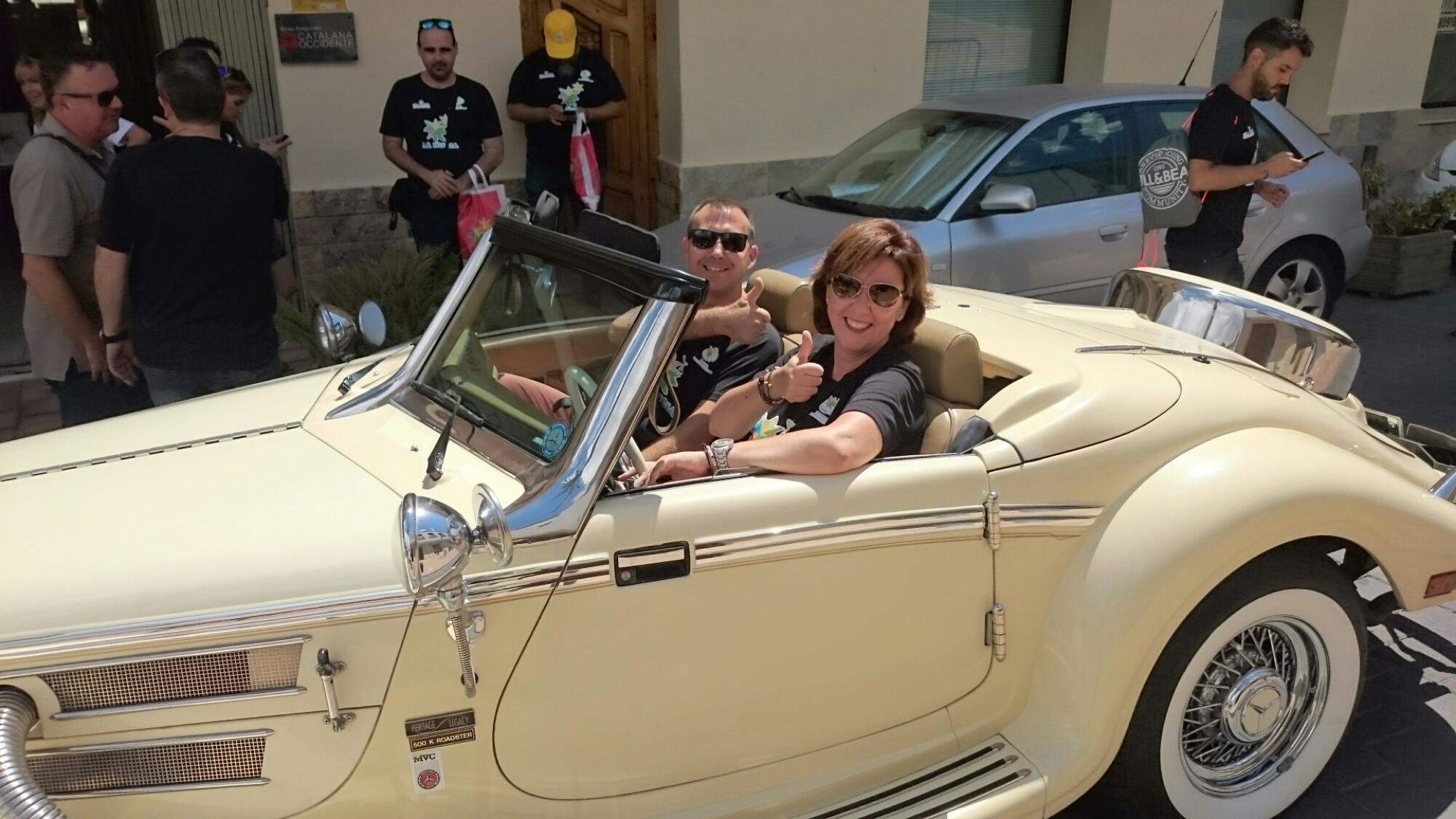 De paseo en un Mercedes por La Nucía