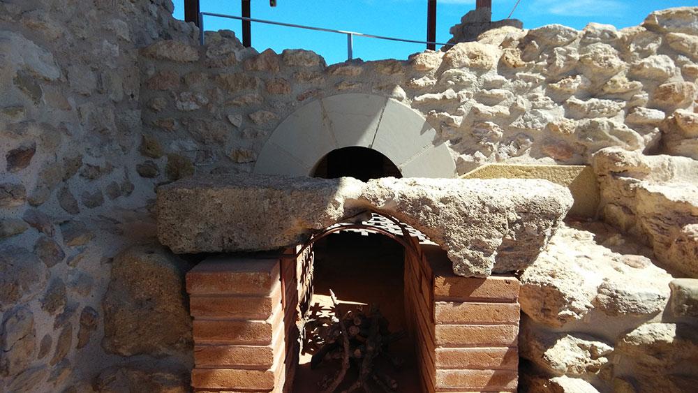 Detalles de las termas romanas de la Illeta dels Banyets en Campello.