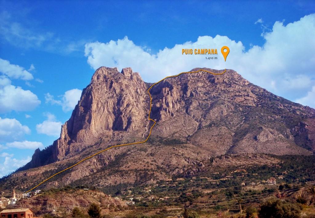 Subida al Puig Campana por la Cara Sur