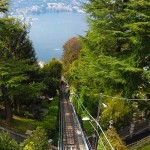 Funicular que une el Lago de Como con Brunate, en los alrededores de Milán.