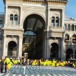 Acceso a la Galería Victor Manuel II en Milán.