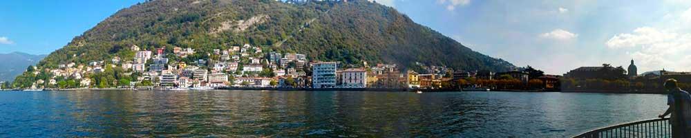 Vista panorámica del Lago de Como, en los alrededores de Milán.
