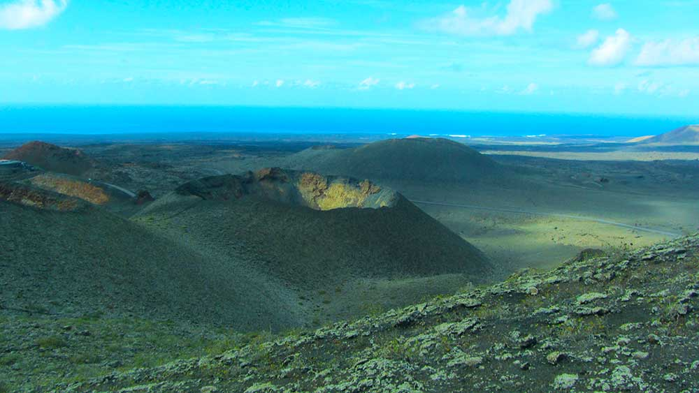 Parque Nacional de Timanfaya en lanzarote.