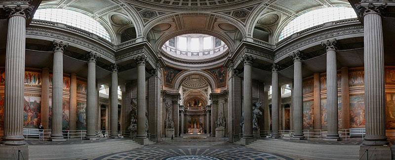 Vista panorámica del Panteón de París