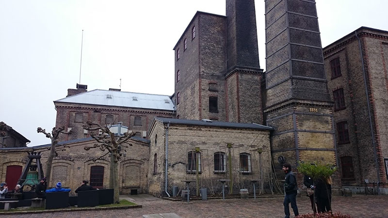 Fábrica original de cervezas Carlsberg en Copenhague.