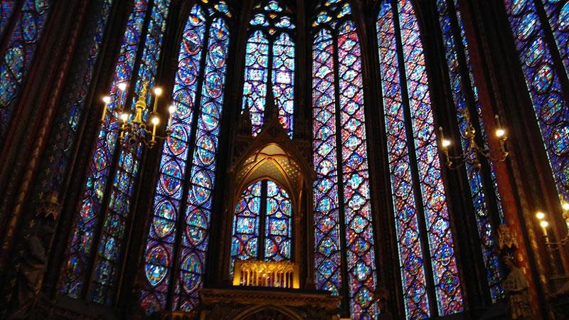 Vidrieras de la Saint Chapelle de París.