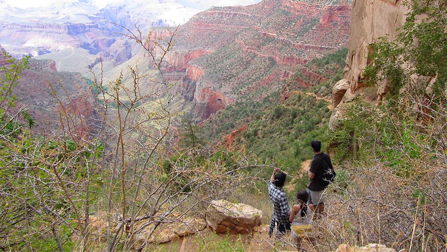 Bright Angel Trail en el Cañón del Colorado.